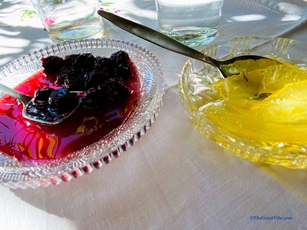 traditional Greek spoon sweets